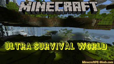 Ultra Survival World Minecraft PE Bedrock Map
