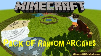 Pack of Random Arcades Minecraft PE Map