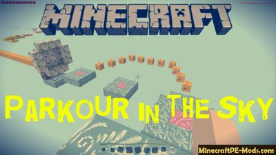 Parkour in the Sky Minecraft PE Map