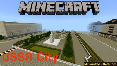 USSR City Minecraft PE Map