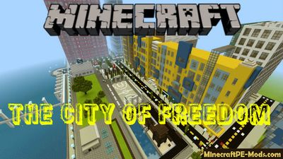 The City of Freedom Minecraft PE Bedrock Map