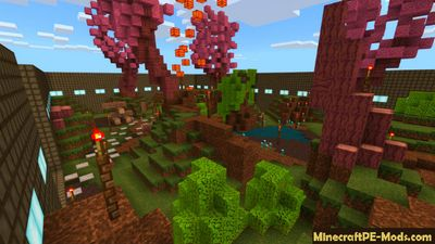 Paintball Forest Minecraft PE Bedrock Map