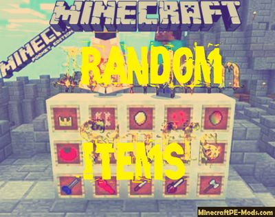 Random Items Minecraft PE Bedrock Texture Pack 1.2.6, 1.2.5