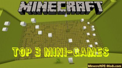TOP 3 Mini-Games Minecraft PE Bedrock Map