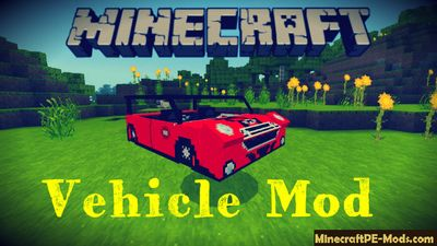 Modern Vehicle Minecraft PE Mod 1.2.11, 1.2.10, 1.2.9