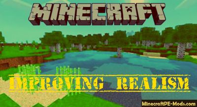 Improving Realism Minecraft PE Bedrock Texture Pack 1.2.10, 1.2.9