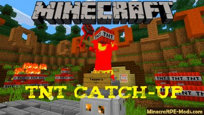 TNT Catch-up Minecraft PE Bedrock Map