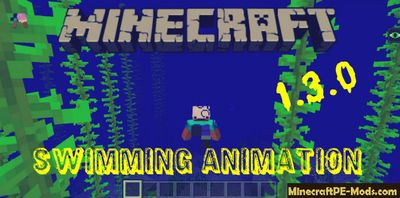 New Swimming Animation in Minecraft PE 1.3.0 Aquatic Update