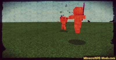Yellow Ghost Steve Minecraft PE Bedrock Mod 1.2.6, 1.2.5