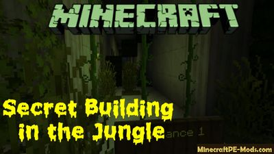 Secret Building in the Jungle Minecraft PE Map