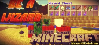 Wizard Items Minecraft PE Map