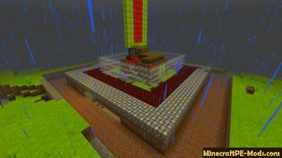 Auto Defensive House Minecraft PE Bedrock Map