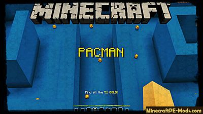 Arcade: The Pacman Minecraft PE Bedrock Map