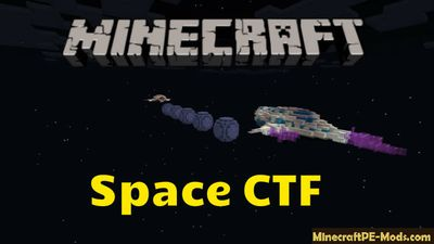 Space CTF PvP Mini-Game Minecraft PE Map