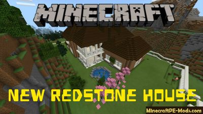 New Redstone House Minecraft PE Map
