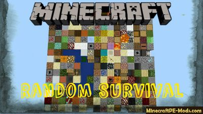 Random Survival Minecraft PE Bedrock Map