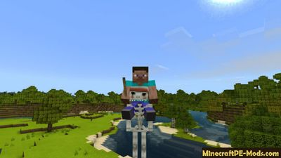 Ghostly Skeleton Mod For Minecraft PE Bedrock 1.2.14, 1.2.11