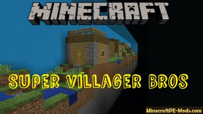 Super Villager Bros Minecraft PE Map