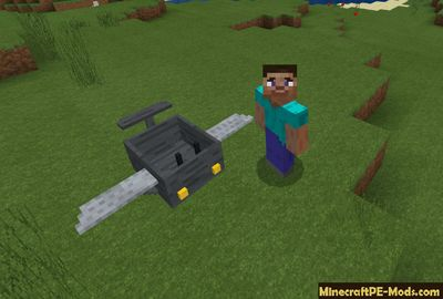 Controllable Air Minecart Minecraft PE Addon