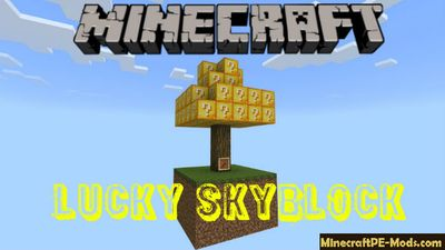 Lucky Skyblock Minecraft PE Map Bedrock