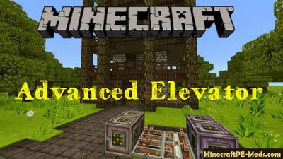 Advanced Elevator Command Block Minecraft PE Mod 1.2.16, 1.2.13