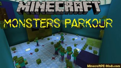 Monsters Parkour Mini-Game Minecraft PE Bedrock Map
