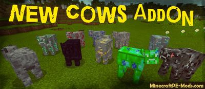 More New Cows Minecraft PE Bedrock Addon / Mod 1.8.0.8