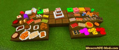 3D Food Decoration Minecraft PE Addon