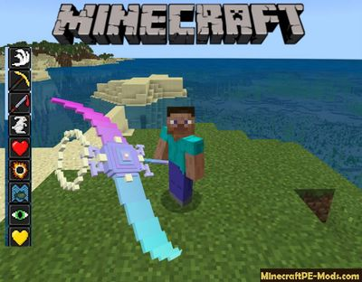 Wind Light Scythe Minecraft PE Mod iOS/Android 1.7.0.13, 1.6.1
