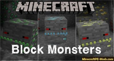 Block Monsters Minecraft PE Bedrock Addon