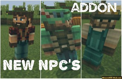 New Npc's Job Trade Minecraft PE Addon iOS/Android
