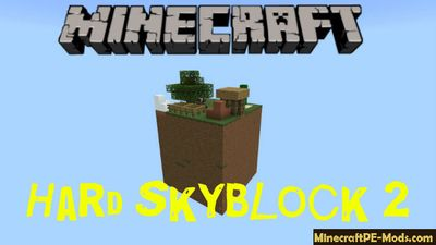 Hard Skyblock 2 Minecraft PE Map Bedrock