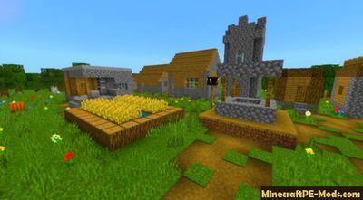 Custom Village Generator Minecraft PE Addon