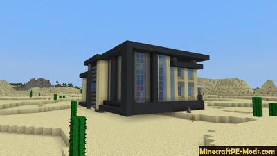 Castle House Mansion Minecraft PE Map