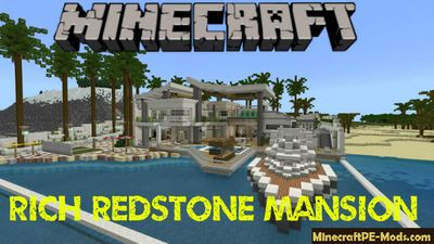 Rich Redstone Mansion Minecraft Bedrock Map