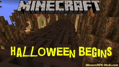 Halloween Begins Minecraft PE Map iOS/Android
