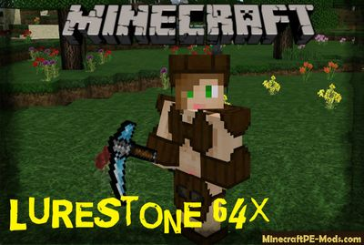 LureStone 64x Texture Pack For Minecraft PE 1.10.0.3, 1.9.0.15