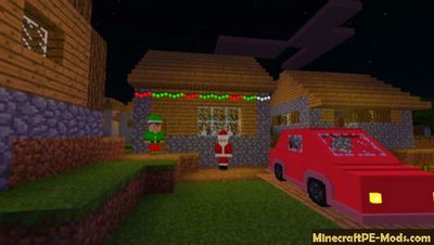 Christmas Decorations Minecraft PE Mod 1.9, 1.8, 1.7 iOS/Android