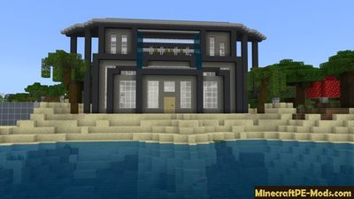 Rich Modern Beachside Mansion Minecraft PE Map