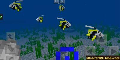More Oceanic Fish Minecraft PE Mod for iOS, Android 1.10.0.4, 1.9.0.15