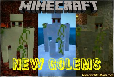 More New Golems Addon For Minecraft PE