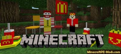 McDonalds Minecraft PE Addon 1.9.0, 1.8.0 iOS, Android