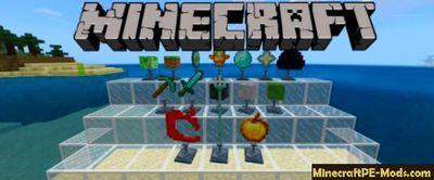 Trophies Stand Minecraft PE Addon Behavior Pack