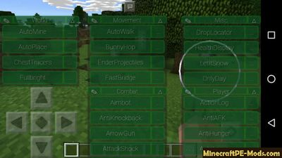 Vortex Hack Client For Admin Minecraft PE Mod 1.10.0, 1.9.0