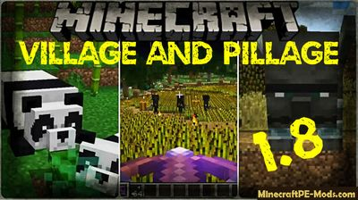 Download Minecraft BE Bedrock Edition 1.8 Village & Pillage Update