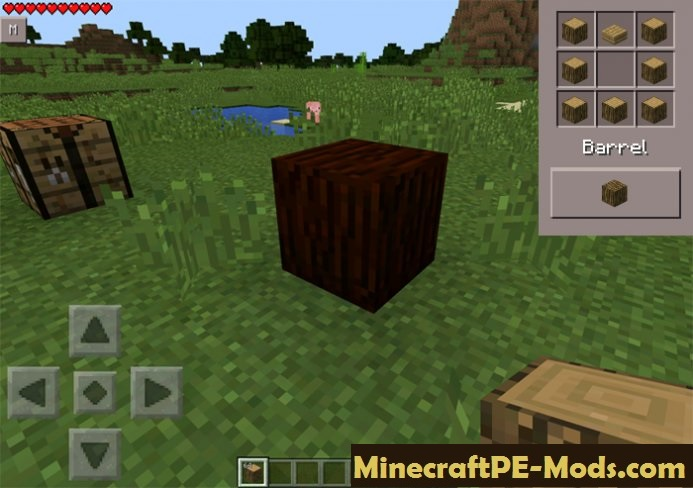 how to make a oak barrel in minecraft