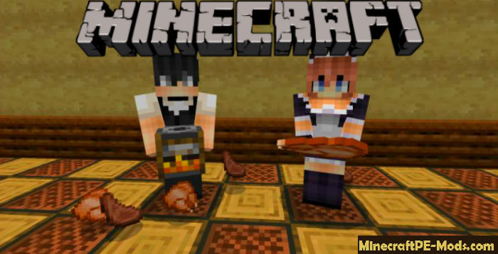 Maids and Butlers Minecraft PE Mod iOS/Android 1 12 0, 1 11 4
