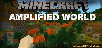 Amplified World Bedrock Minecraft PE Mod/Addon 1.12.0