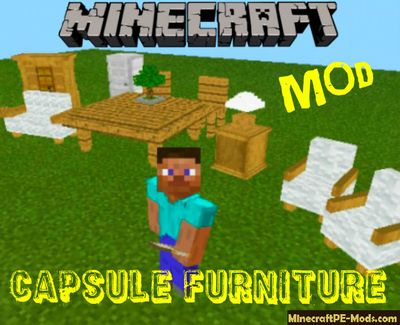 001 Hoipoi Capsule Furniture Minecraft PE Mod 1.12.0.4, 1.12.0