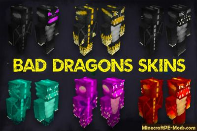 Bad Dragons HD Skin Pack Minecraft PE iOS/Android